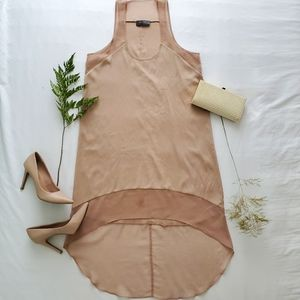 🤎2/$100🤎Beautiful chiffon 2toned beige slipdress